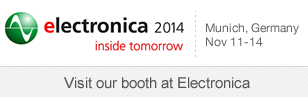 SignalQuest will be displaying at Electronica 2014 Trade Show and Conference, November 11-14, Munich, Germany